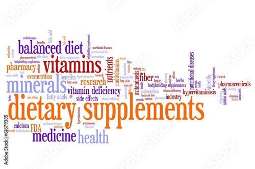 Dietary supplements - conceptual word cloud