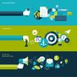 Set of flat design vector illustration concepts for business