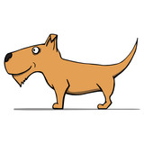 Cute cartoon dog. Vector illustration