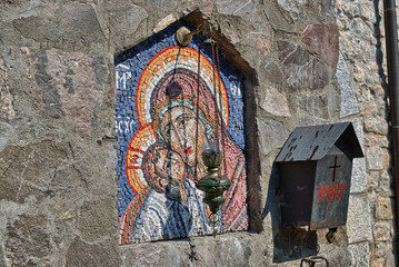 Icon at Moraca Monastery in Montenegro