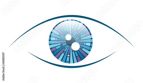 Fototapeta Abstract Blue Eye