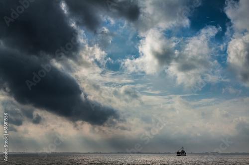 Poster Ein Sturm zieht über der Nordsee auf