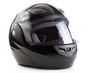 canvas print picture - Black, glossy motorcycle helmet