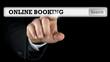Online booking written in a navigation bar