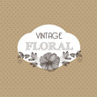 Decorative vintage, spring floral background