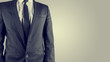 Businessman in a suit, torso view