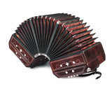 Bandoneon on white background