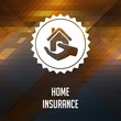 Home Insurance on Triangle Background.