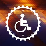 Disabled Icon on Triangle Background.