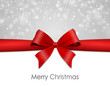 Grußkarte Schleife merry christmas