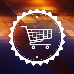 Shopping Concept on Triangle Background.