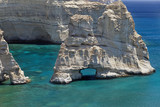 Volcanic rocks of Kleftiko.Milos island,Greece.