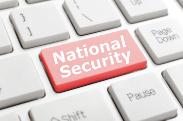 National security on keyboard