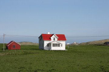 Fredvang's house and hut