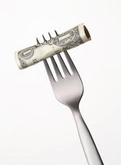 Gastar dinero,consumo,concepto de finanzas.