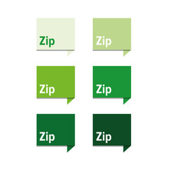 Zip file icon green