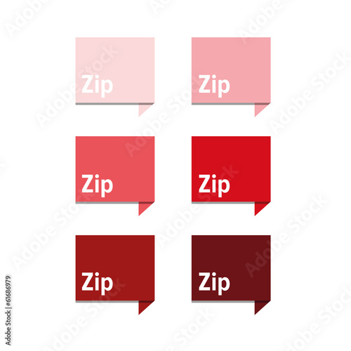 Zip file icon red