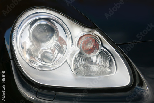 headlight of modern luxury car