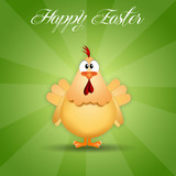 hen for Happy Easter