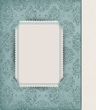 damask with corner slit frame