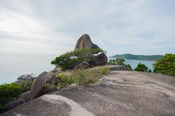 Hin Rua Bai, sailboat rock the symbol of Similan island in Thail