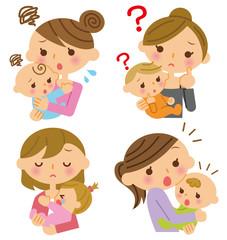 母子 表情 複数