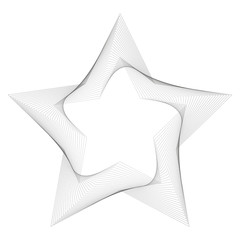 Star line art abstract vector background