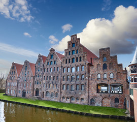 Trave river, Lubeck, Germany
