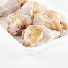 fresh chicken isolated on white background