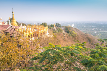 Panorama landscape view from Mandalay Hill - Sutaungpyei Temple