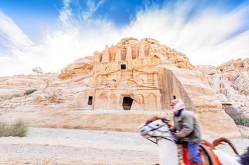 The Obelisk tombs in the ancient Jordanian city of Petra, Jordan