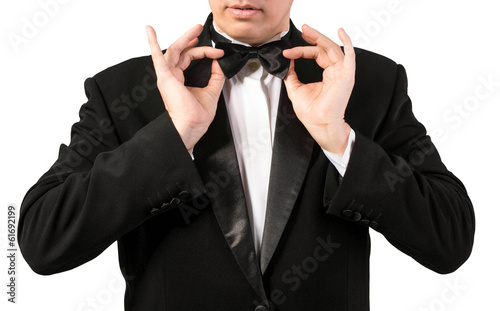 Elegant Adult Fashion Glamour Man in Tuxedo
