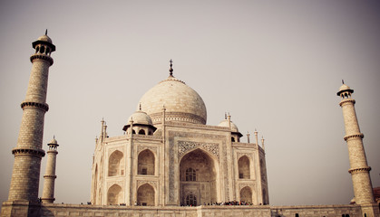 Taj Mahal, Agra, India with filter