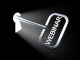 Education concept: Webinar on key