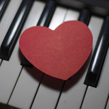 piano and heart