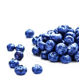 Fresh Blueberries  isolated on white background macro. Blueberry