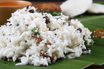 Curd Rice – A Rice mixed with yogurt and seasoning