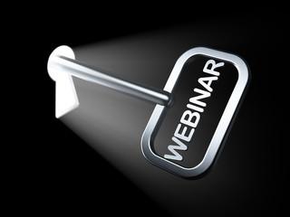 Education concept: Webinar on key