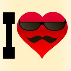 фон я люблю очки и усы