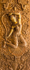 Thai art stucco(Thokkathan-Mother Earth Squeezing Her Hair)