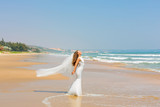 Bride on  beach