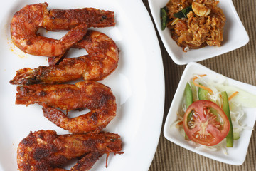 Fried Prawns - A snack from Goa in Western India
