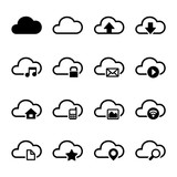 Cloud Storage Icons Set