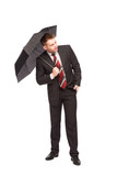 elagant man with umbrella
