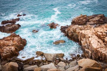 Sea and Rocks in Hong Kong