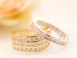 Gold and silver wedding rings