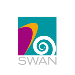 Vector logo swan. Concept of fashion, beauty and spa