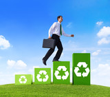 Green Business With Recycling Symbol