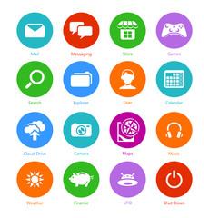 System flat icons || Set I