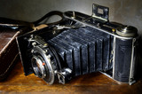Nostalgic antique bellows camera